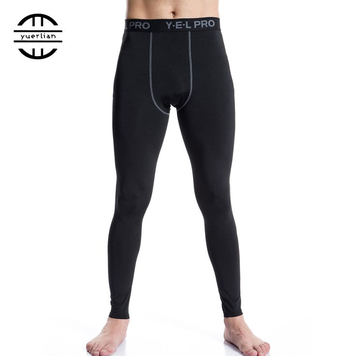 YEL New Elastic Quick Dry Trousers Men Compression Tights Pantalones Athletic Training Leggings Fitness Gym Sports Running Pants