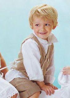 Мир хобби: Бежевый жилет для мальчика (вязание спицами)