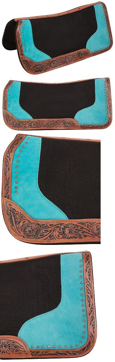 Saddle Pads 47308: New Black Wool Felt Turquoise Shock Absorbing Western Horse Saddle Pad -> BUY IT NOW ONLY: $66.49 on eBay!