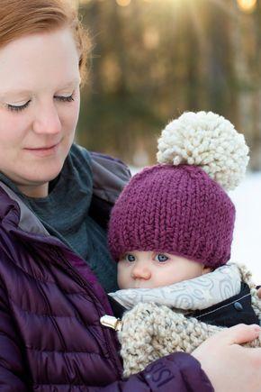 Knitting Pattern // Chunky Pom Pom Hat // Chunky Knit Hat // Hats for Kids…