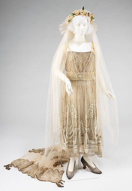 Mademoiselle Willets | Wedding ensemble | American | The Met 1918 Abraham & Straus