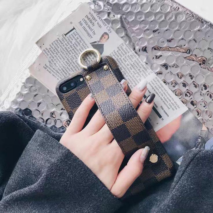 LVルイ・ヴィトンダミエ調ハンドバッグ式iPhoneX/8/7Plus/6sケース卓上スタンド女子アイフォンX/8Plus/8/7plus