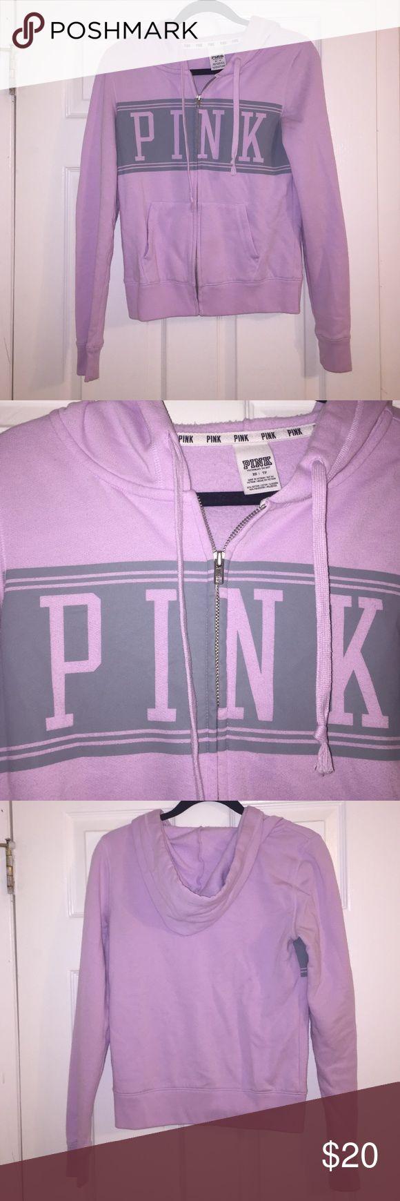 Victoria's Secret PINK Zip-Up Victoria's Secret PINK Zip-Up Hoodie. Lavender color. Make an offer 😊 PINK Victoria's Secret Tops Sweatshirts & Hoodies