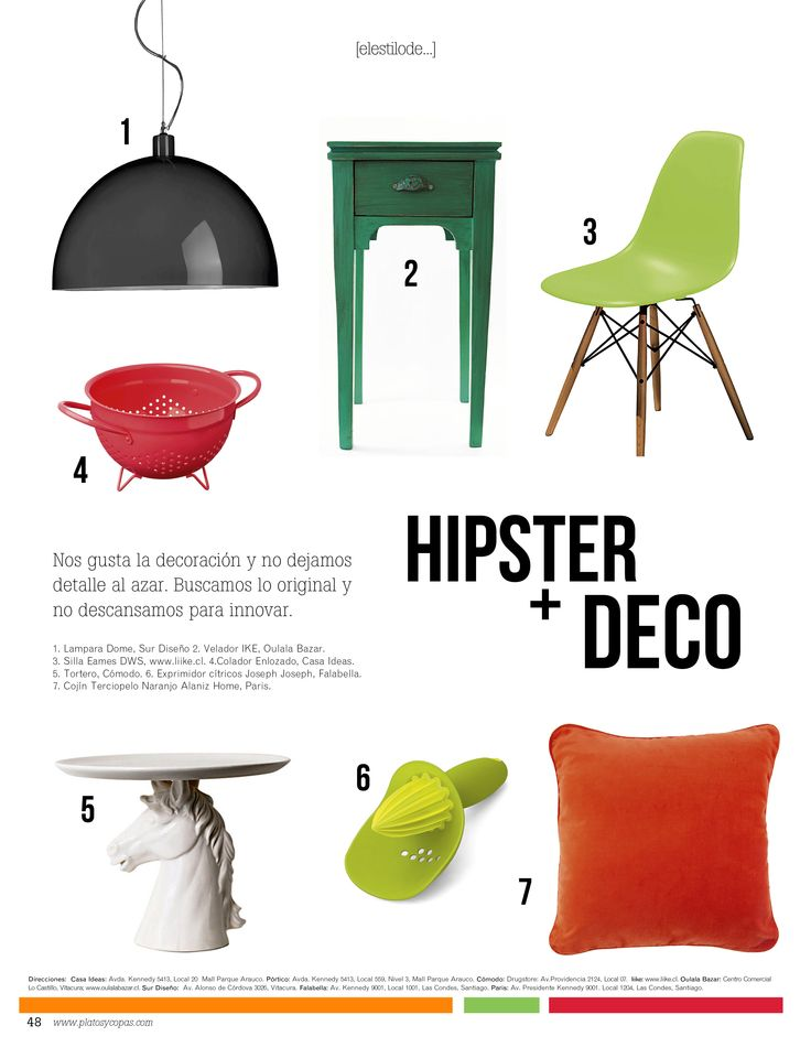 Revista Platos&Copas // Estilo de..: ¿Feeling hipster?