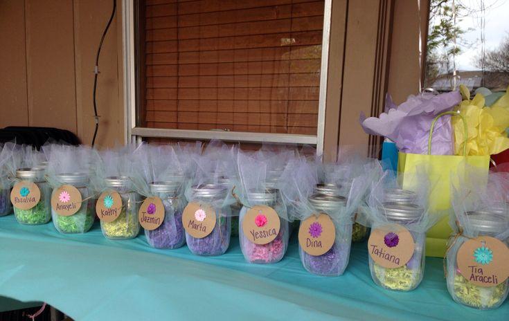 baby shower mason jar party favors babyshowers pinterest mason jar party