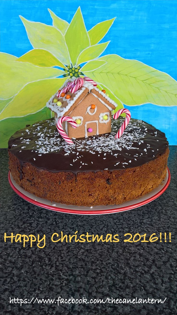 Christmas fruitbread and Gingerbread house.The Cane Lantern 2016.