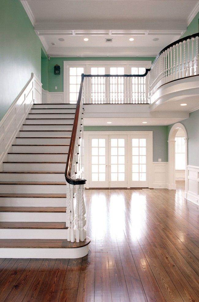 gorg, but im not sure what the downstairs part would be filled with? is it a living room or hallway?