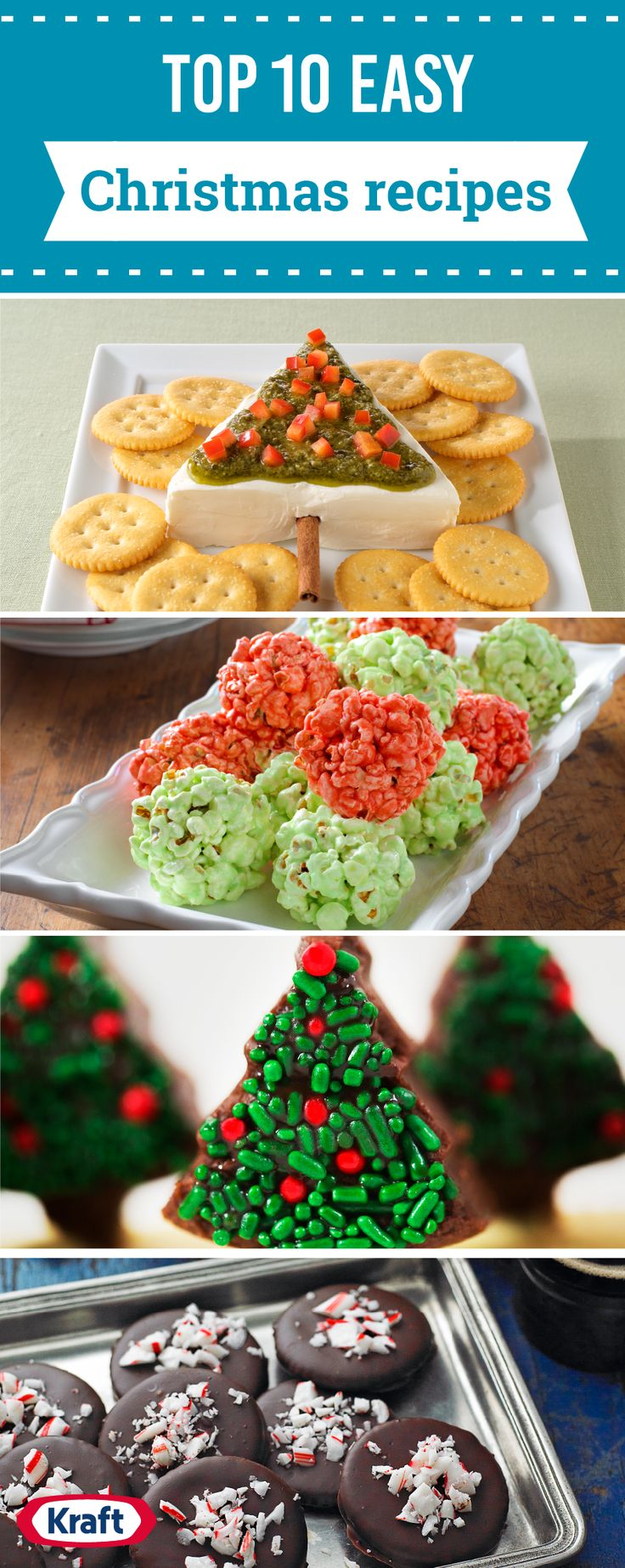 Top 10 Easy Christmas Recipes – Yeah, you read that right. These are easy Christmas recipes. Because while we're as fond of extravagant Christmas recipes as anyone else, sometimes you need to have some that are quick or easy (preferably both) to round out your traditional Christmas menu! Click to find a variety of homemade edible gifts, no-bake desserts, and savory options, too.