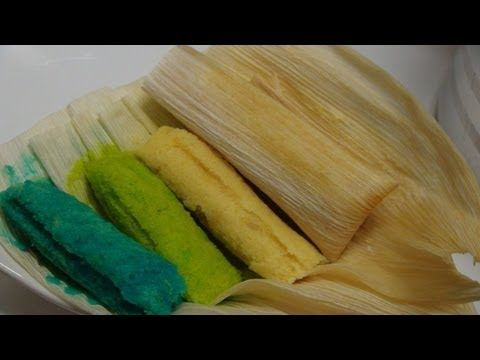 ▶ RECETA DE TAMALES DULCES DE HARINA DE ARROZ - POSTRE CON HARINA DE ARROZ angycrisjavi - YouTube