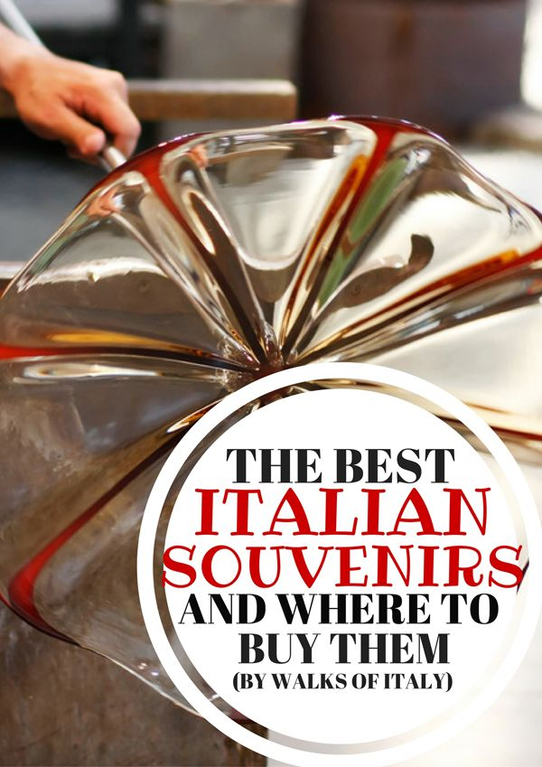 Murano glass from Venice is one of the best Italian souvenirs you can bring home. Check out our other top pics for the best souvenirs from Italy.