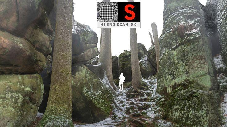stone boulders scanned obj
