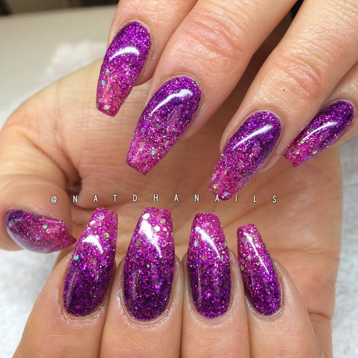 Instagram photo of acrylic nails by Victoria Natdha G STOCKHOLM