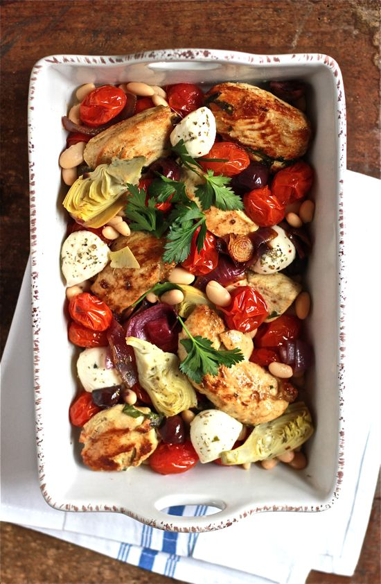 mediterranean baked chicken | The Clever Carrot - try it!