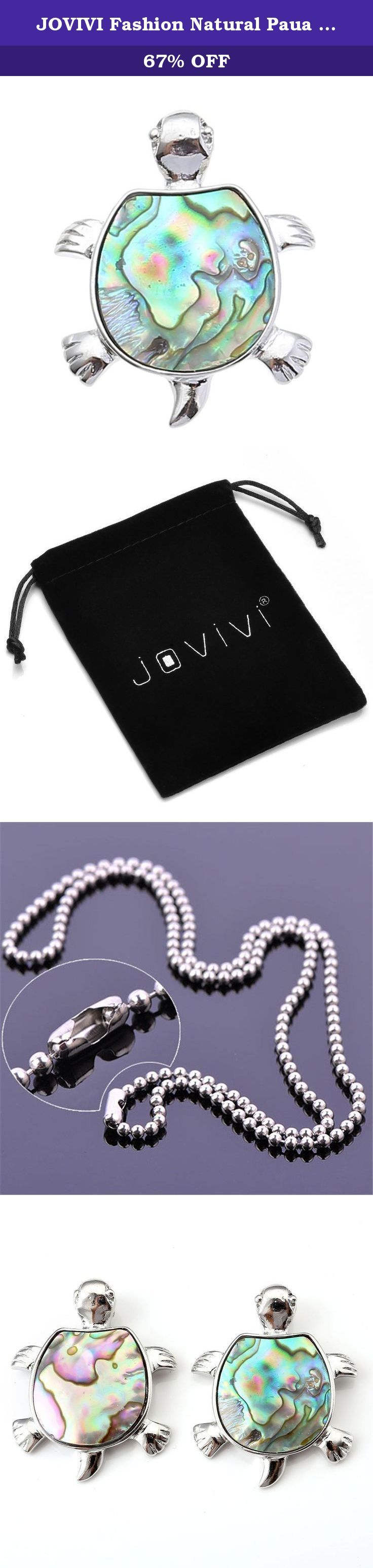 JOVIVI Fashion Natural Paua Abalone Tortoise Turtle Bead Charm Pendant Bead Necklace. *Thank you for visiting JOVIVI Store. We are specializing in jewelry making beads and findings. *If you like this product, we advise you add it to wish list now, so that we will inform you immediately once it has a discount. *And you can click our brand name which on the top of the title; you can find more jewelry making beads with high quality and reasonable price. *If you have any question or advice...
