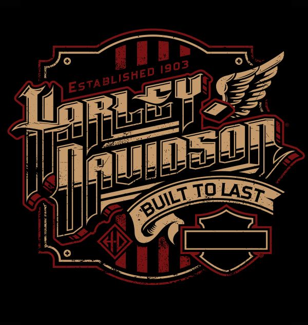 Harley Davidson Lettering 28 Images Embroidered