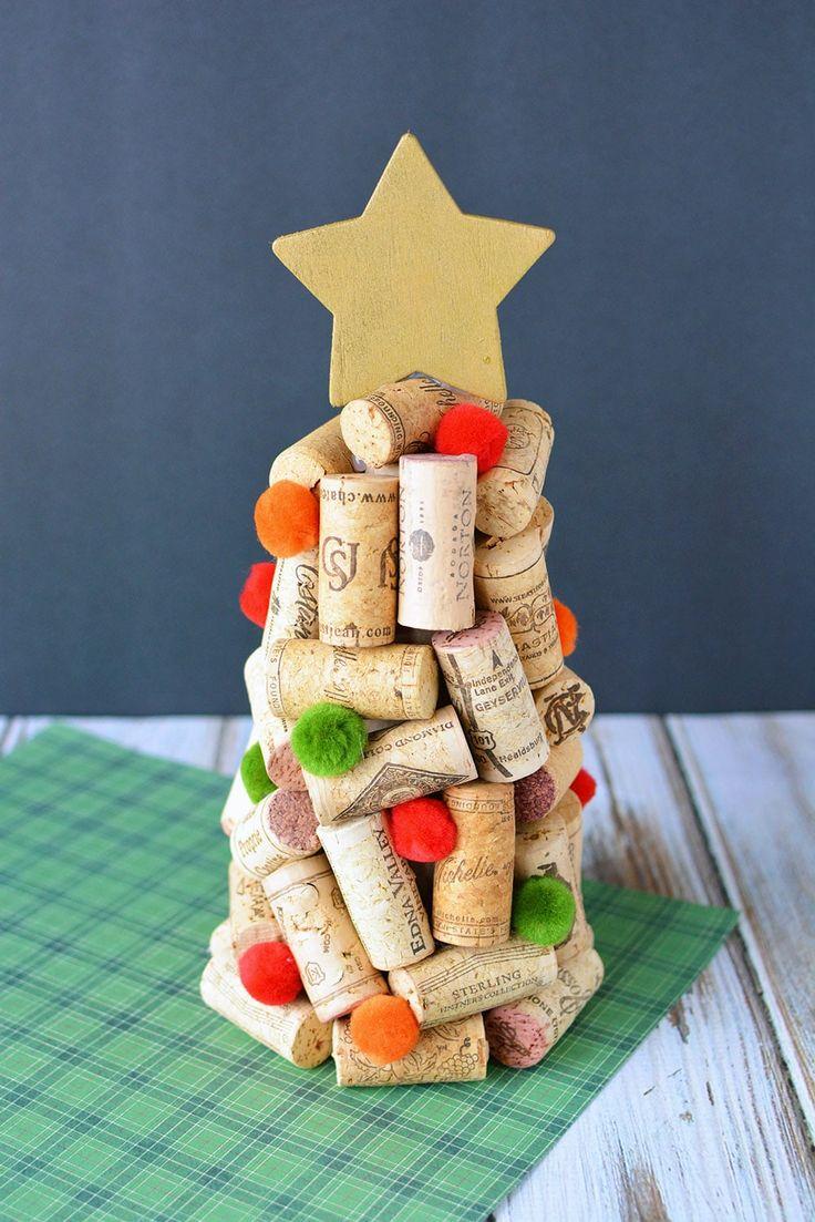 DIY Weinkorken Weihnachtsbäume Craft