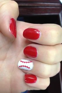 Tanya's Creative Space: DIY Baseball Nail Art made with the Silhouette and Vinyl