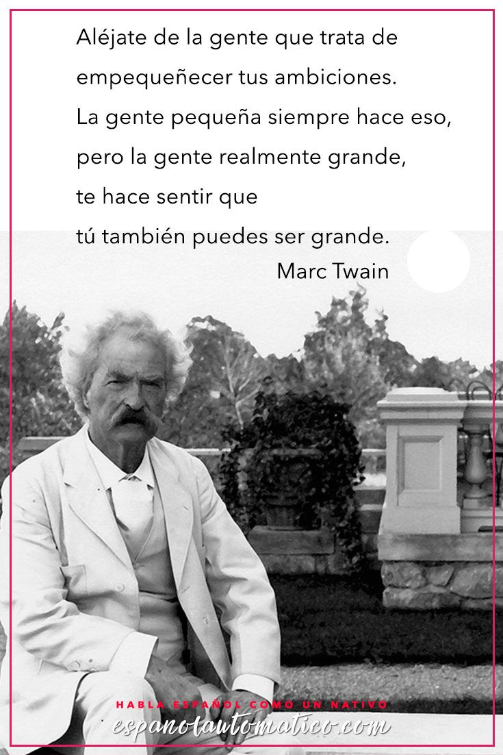 Quote / Inspiration in Spanish / motivation for learning Spanish / Spanish podcast— More fun Spanish Resources at http://espanolautomatico.com Repin for later!                                                                                                                                                                                 Más