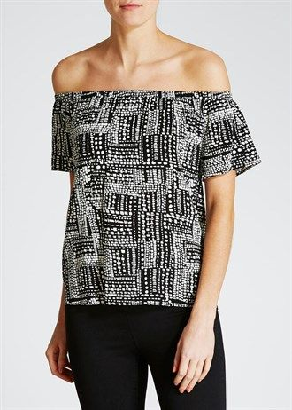 Aztec Bardot Top