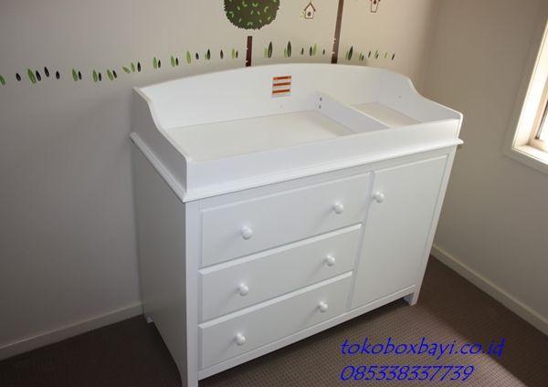 Baby Tafel Putih Simple Harga Murah - Meja Ganti Popok Bayi dengan Model Minimalis dan Sederhana Juga Harga Murah produck By tokoboxbayi.co.id