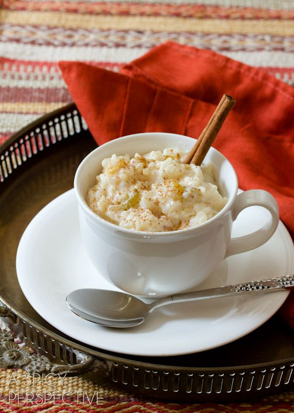 Mexican Rice Pudding   ASpicyPerspective.com #mexican #recipe #pudding #popsicles