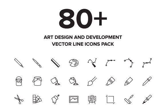 Art Design and Development Icons by Creative Stall on @creativemarket