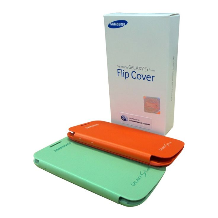 Flip Cover S4 Mini Green + Orange
