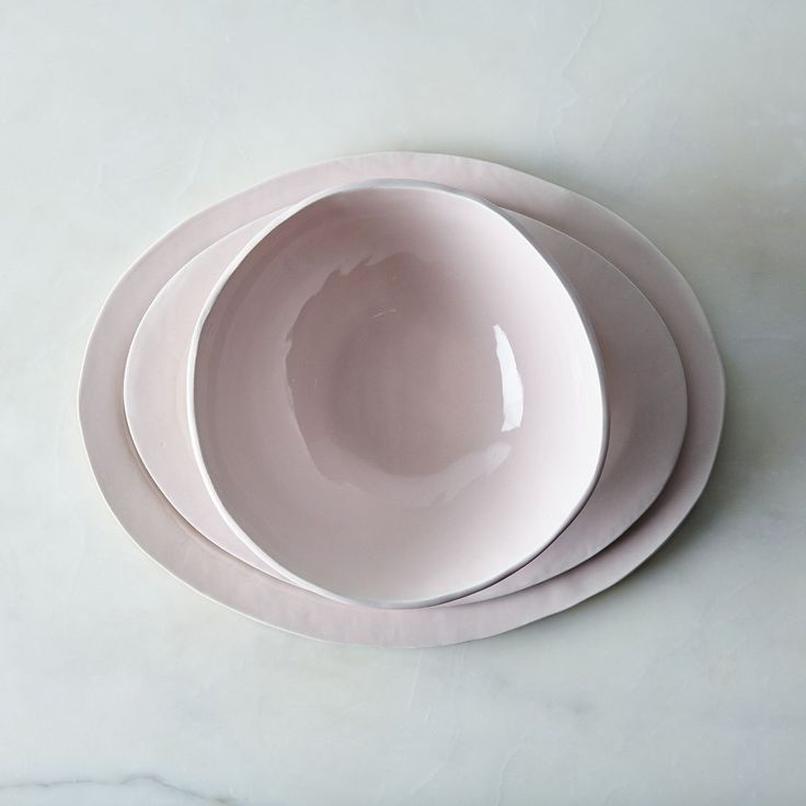 Food52 Glossy Pink Porcelain Serveware, / Looks Like White