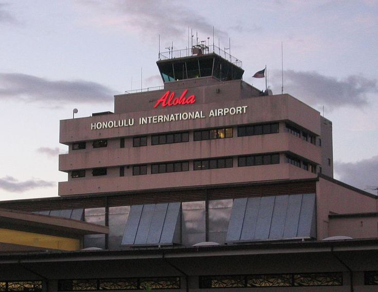 The main welcome sign for Honolulu Airport.