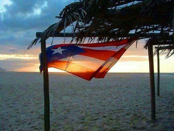 Flag On The Beach Puerto Rico