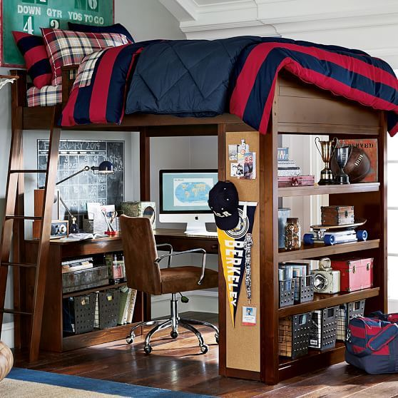 Sleep + Study® Loft | PBteen If money was no issue I would love this for my son.