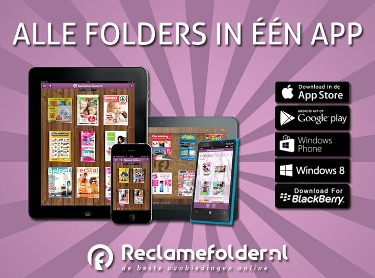 Maak jij al gebruik van onze handige app, waarmee je elke zondag alle nieuwe folders al kunt bekijken? Nog niet? Download onze app via: http://rcla.me/WTtxuL.