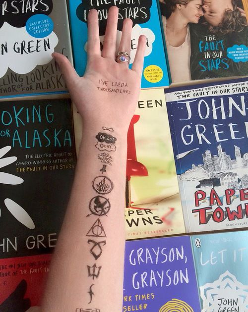 • harry potter tattoos The Hunger Games books infinite percy jackson Daisy john green the fault in our stars fandom The Perks Of Being A Wallflower Mockingjay the mortal instruments tfios looking for alaska paper towns vampire academy augustus waters hazel grace divergent will grayson will grayson okay okay Veronica Roth insurgent allergiant addicted-to-delena •