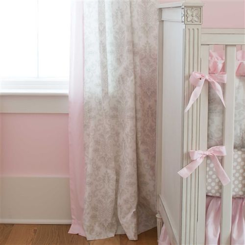 French Gray and Pink Damask Nursery Decor | Carousel Designs