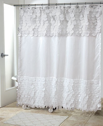 Perfect Avanti Bath Accessories, Flutter Dots Shower Curtain   Shower Curtains U0026  Accessories   Bed U0026