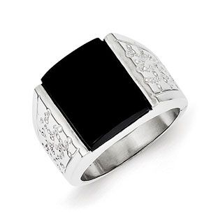 Men's Black Onyx Ring In Sterling Silver Nugget Style Jewelry Our black onyx rings for men include mens onyx and diamond rings, men's onyx rings in yellow gold, white gold and sterling silver. Gemologica is proud to offer a premier line of men's gemstone and birthstone rings, most of which are custom made in New York City. Available Exclusively at Gemologica.com https://www.gemologica.com/mens-black-onyx-rings-c-28_46_64_104.html https://www.gemologica.com/mens-gemstone-rings-c-28_46_64.html