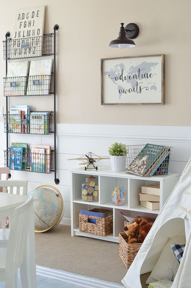 Modern Farmhouse Playroom. Playroom Wall DecorKid ...