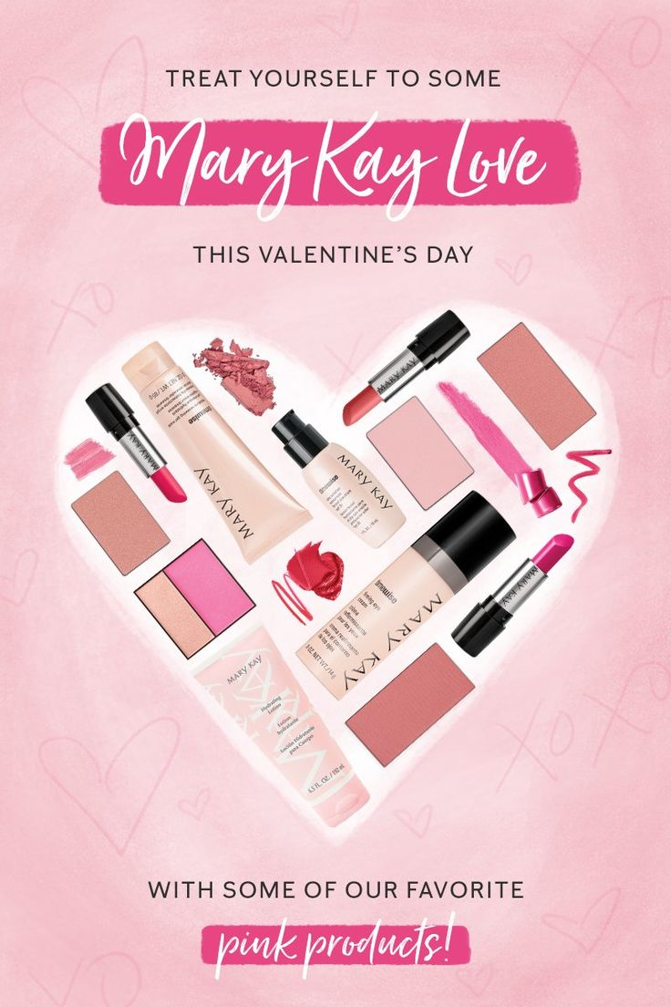 We heart you, beauties! Share the love on Valentine's Day by gifting yourself or someone else our favorite pink products! | Mary Kay