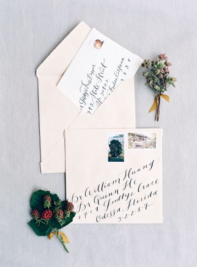 Pretty calligraphy: http://www.stylemepretty.com/2016/04/21/20-unique-ways-to-step-up-your-invitation-suite-style/