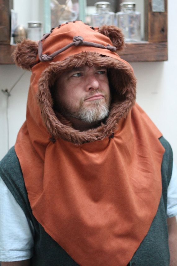 Ewok hood. Hand and home-made 3 sizes 3 colours. by BostinBlam