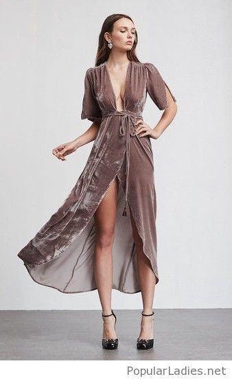 a-simple-velvet-dress-design-on-brown