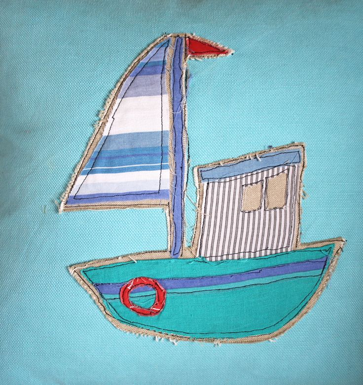 Aplique fishing boat cushion cover