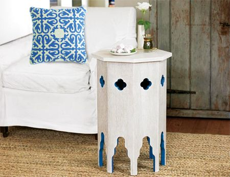 Here's how to make a traditional Moroccan-inspired table using a simple design with bright colour and decorative cutouts. You can use PG Bison SupaWood for this project, or marine plywood if you intend to place the Moroccan table outdoors on a patio or in the garden. http://www.home-dzine.co.za/diy/diy-moroccantable.htm#