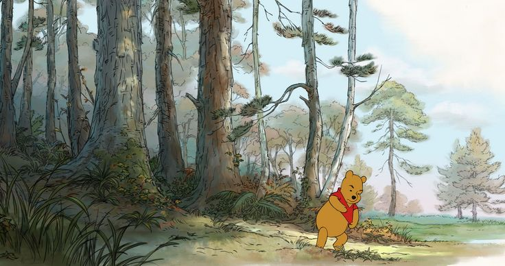 Winnie The Pooh Forest Background: A Perfect Pooh Forest. (http://www.stitchkingdom.com