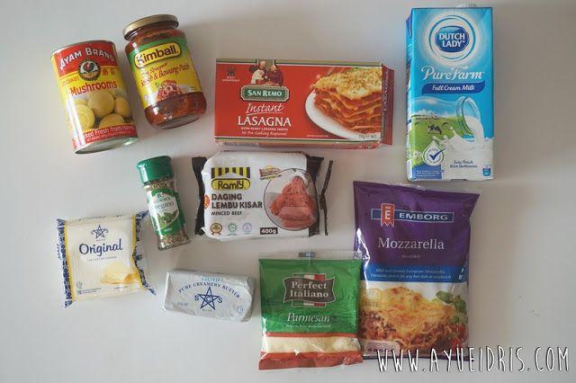 Ayue Idris: Resepi Mudah   Lasagna Paling Sedap