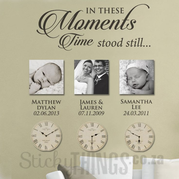Moments Wall Art Sticker with Dates - Photo Wall Sticker