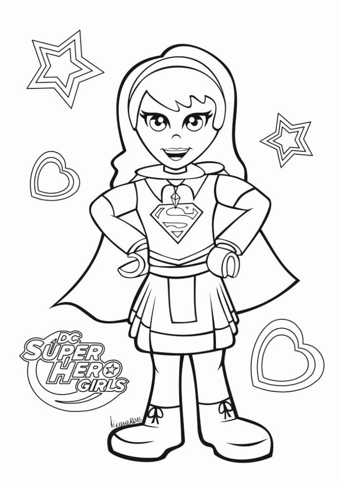lego supergirl coloring pages for printable