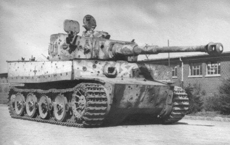 Tiger '231' of Leutnant Zabel from schwere Panzer-Abteilung 503 was hit 252 times by fire from all calibres during combat near Ssemernikovo, on the outskirts of Rostov-on-Don on 11 February 1943. The tank was able to be driven a further 60km to the rear area and returned to the unit. Later, the tank was returned to Germany (note the transport tracks) but it is not known whether this tank was repaired.