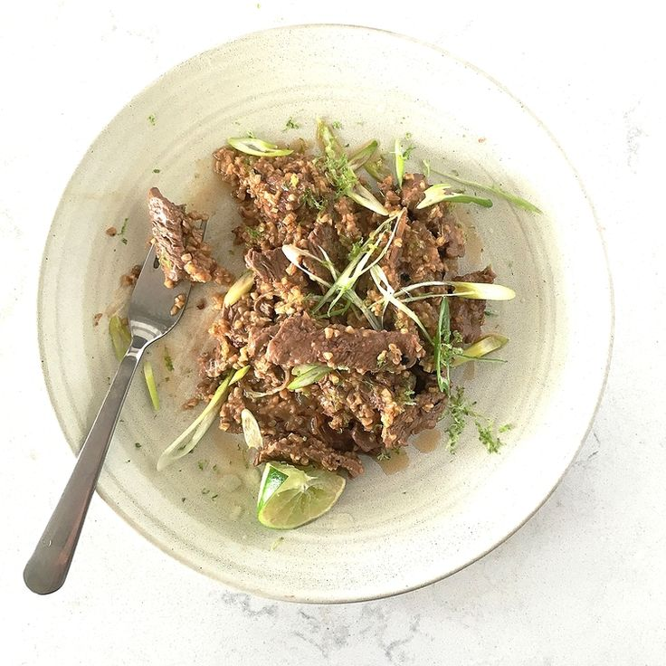 Thai Style Beef Oatmeal by Chef Mike Ward