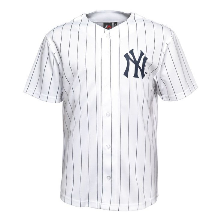 Majestic Athletic Maillot de Baseball Yankees Dormer Homme Blanc